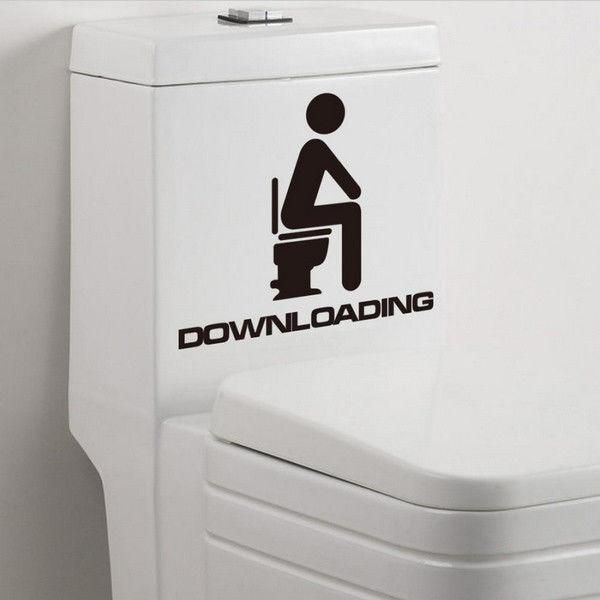 Autocolant de toaleta Downloading 0