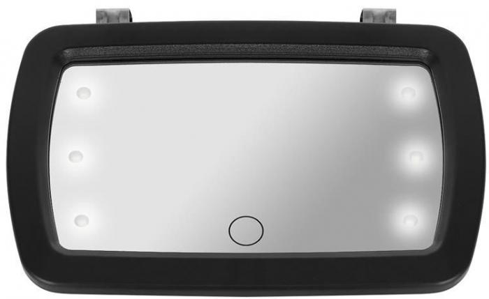 Oglinda auto supraveghere copil, iluminata LED 2