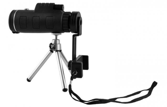 Telescop cu lentile pentru telefon pe trepied 4