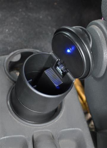 Scrumiera universala pentru masina cu capac si lumina led