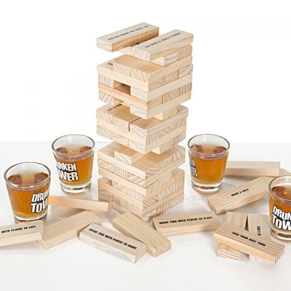 Joc de societate - Jenga cu shoturi/Drunken Tower 1