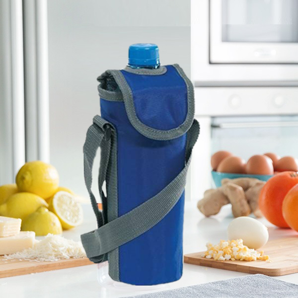 Geanta frigorifica Bottle albastra
