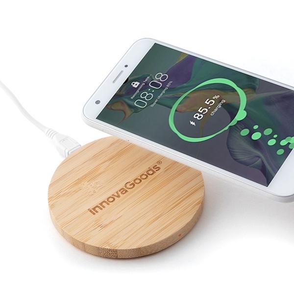 Încărcător wireless din bambus 4