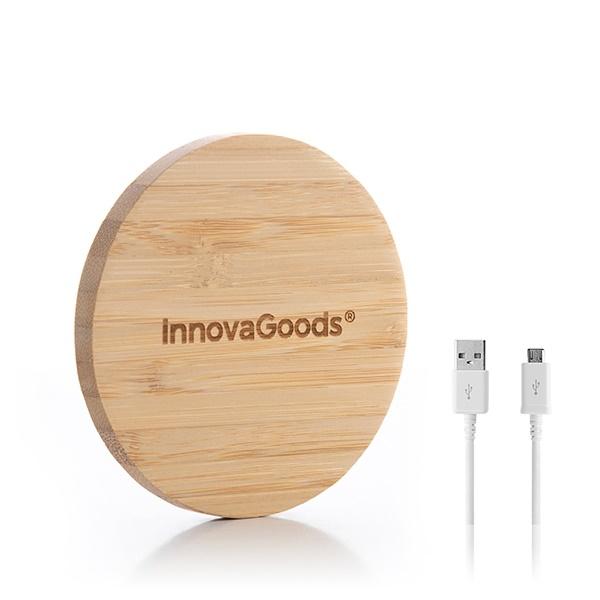 Încărcător wireless din bambus 5