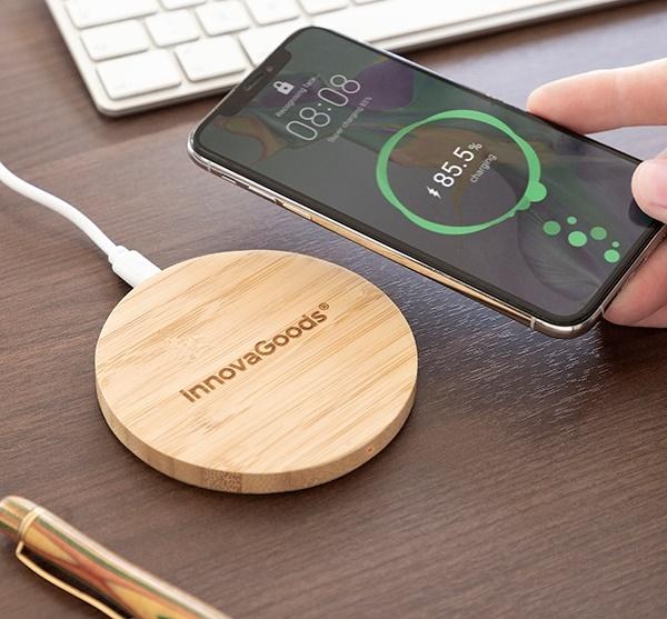 Încărcător wireless din bambus 7