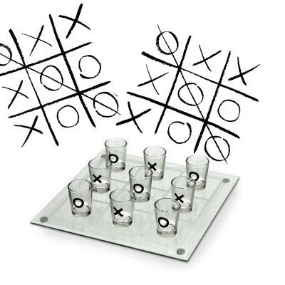 Joc de baut - X si 0 cu pahare 3
