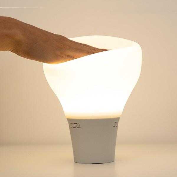 Lampă Bec LED Tactil din Silicon cu Boxă 2