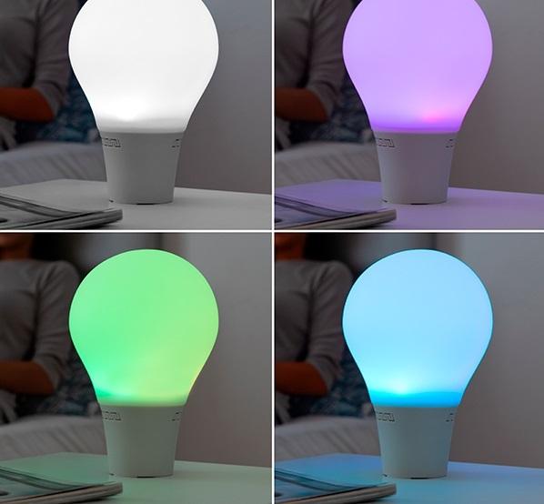 Lampă Bec LED Tactil din Silicon cu Boxă 1