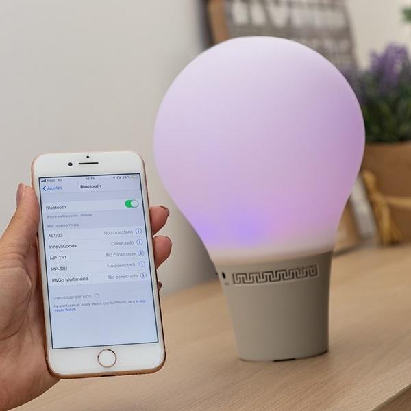 Lampă Bec LED Tactil din Silicon cu Boxă 3