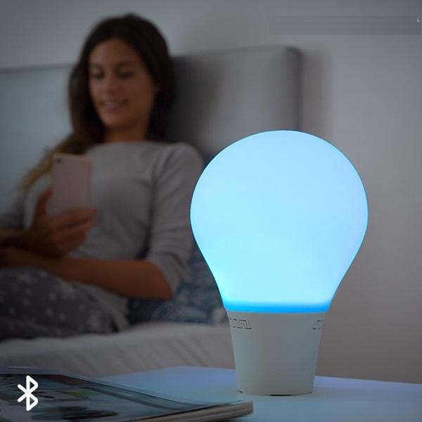 Lampă Bec LED Tactil din Silicon cu Boxă 0