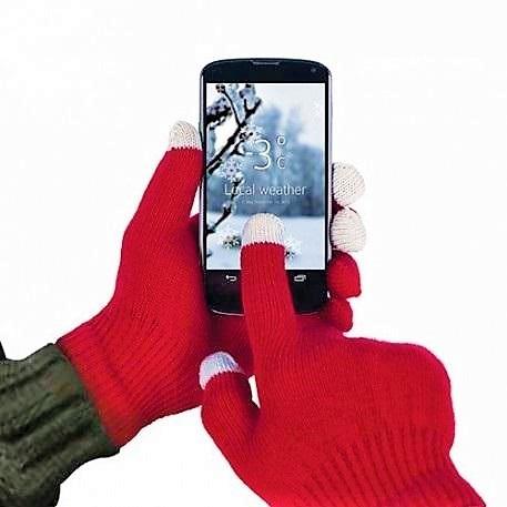 Manusi cu touchscreen rosii 0