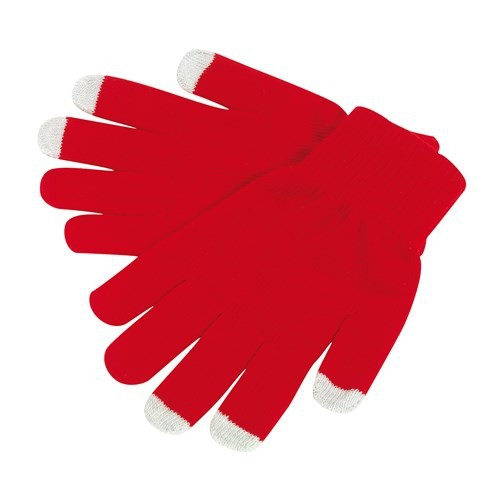 Manusi cu touchscreen rosii 1