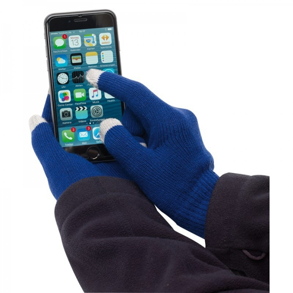 Manusi touchscreen albastre 0