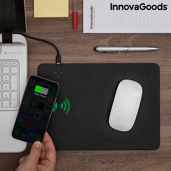 Mouse cu incarcare wireless 2-in-1 Padwer InnovaGoods