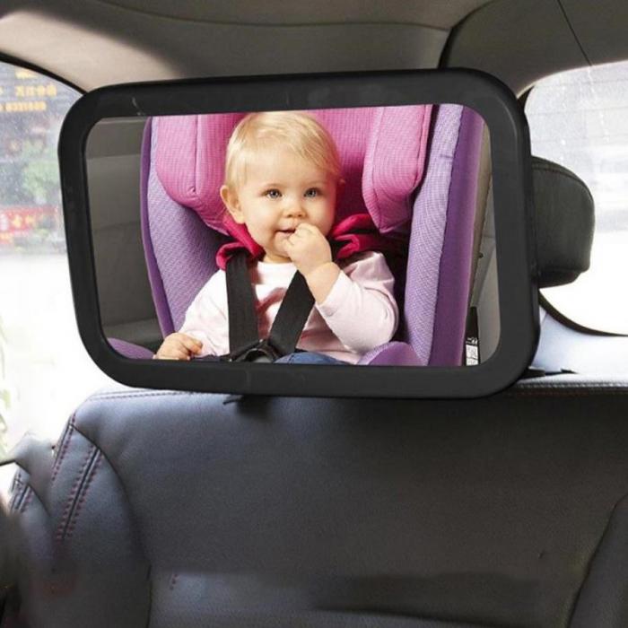 Oglinda auto supraveghere copil, iluminata LED 0