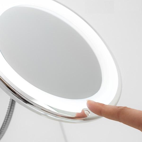 Oglindă cosmetică cu LED cu picior flexibil și ventuză Mizoom 2