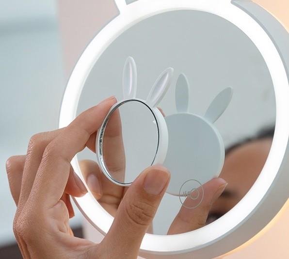 Oglinda-lampă Led pentru machiaj 2 în 1 Bany 4