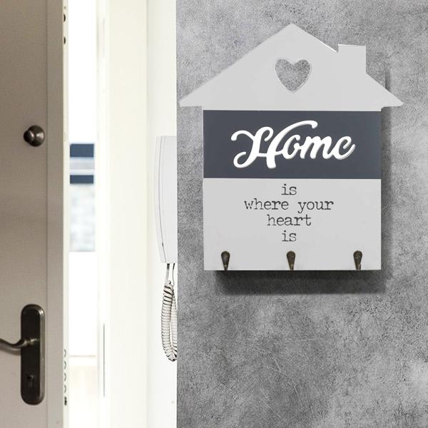 Suport din lemn pentru chei Love home 0