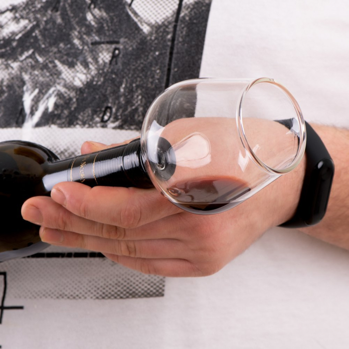 Pahar dop de sticla de vin 0