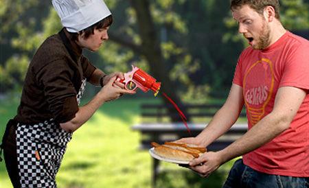 Pistol mustar si ketchup 3