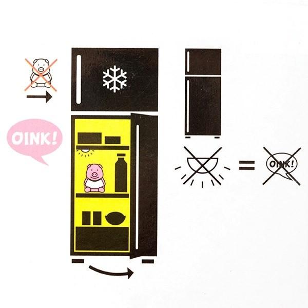 Purcelus cu sunet pentru frigider Diet 3