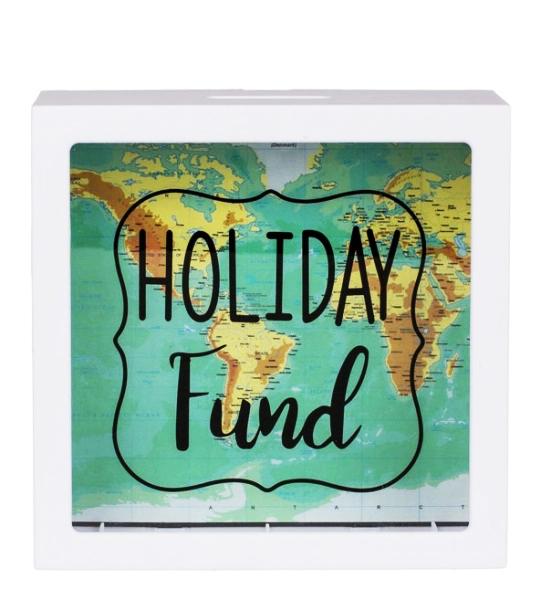 Pusculita Holiday Fund cu harta lumii [2]