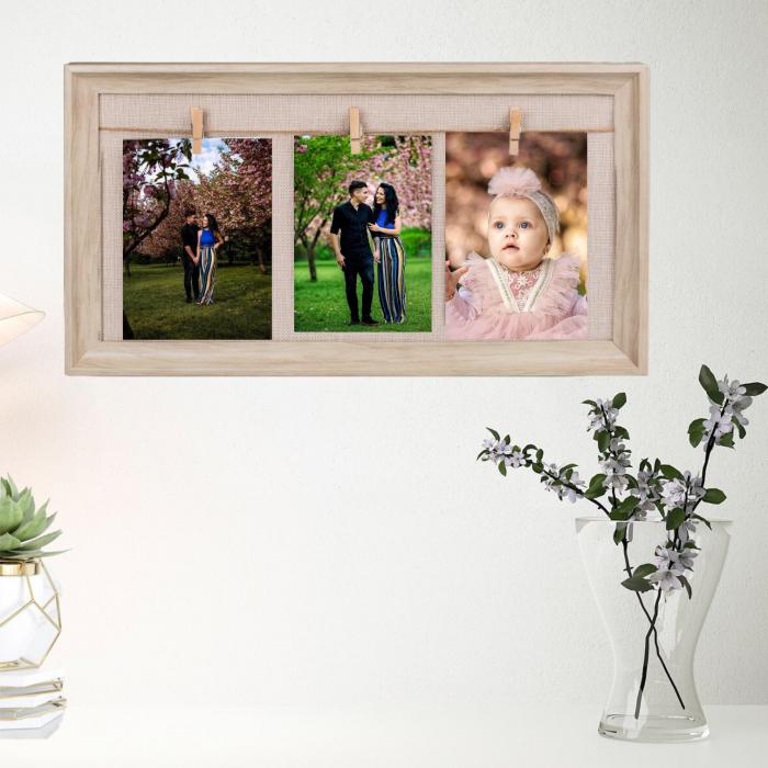 Rama foto de perete personalizata cu 3 fotografii 0