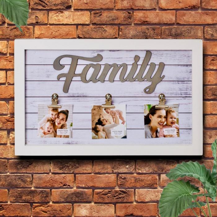 Rama foto Family personalizata cu 3 poze 0