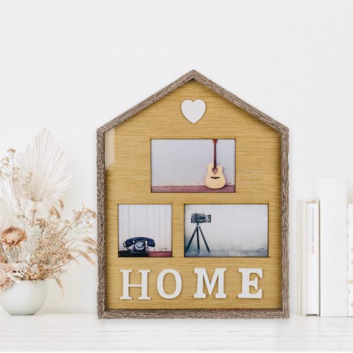 Rama foto de perete Home personalizata cu 3 poze 0