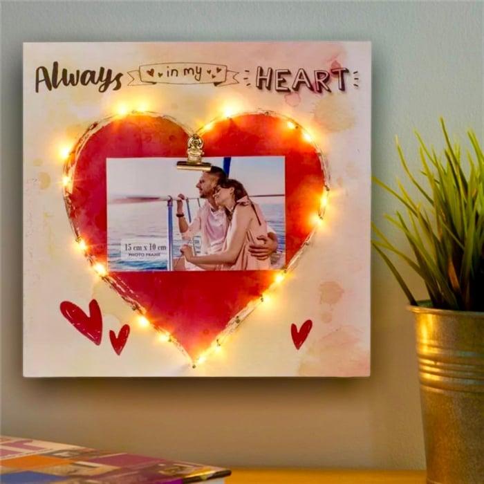 Rama foto Led Lovers personalizata cu o fotografie [0]