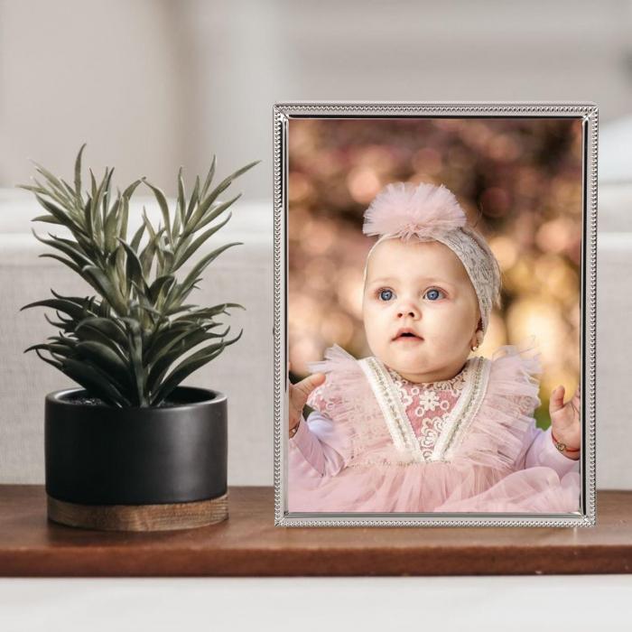 Rama foto metal-silver personalizata cu o fotografie 0