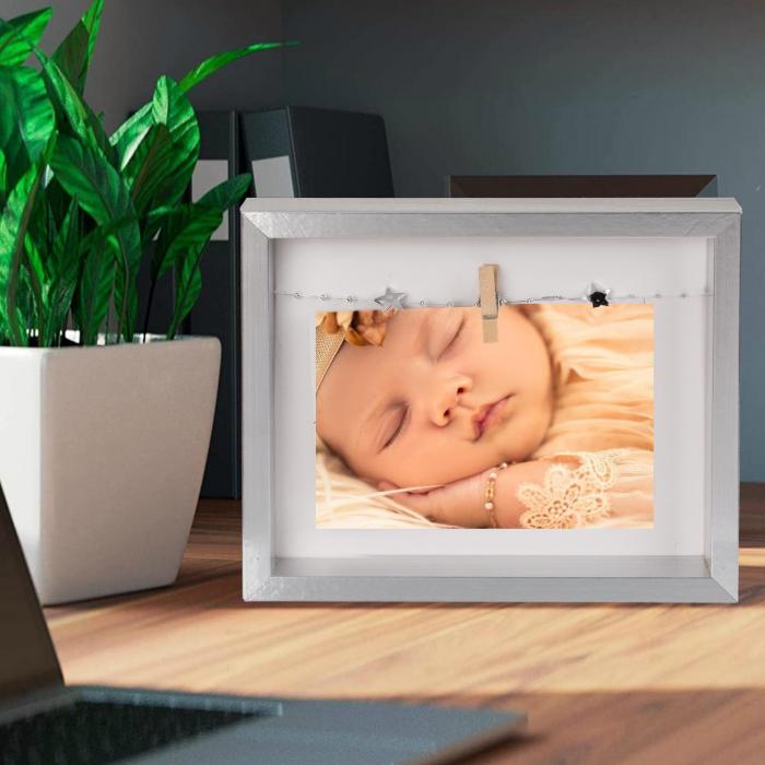 Rama foto silver personalizata cu o fotografie 0