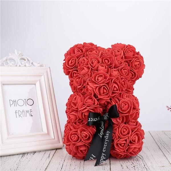 Ursulet din trandafiri 25 cm 0