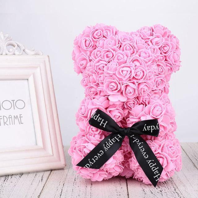 Ursulet din trandafiri 25 cm 2