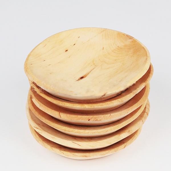 Set 6 farfurii rotunde din lemn de fag 0