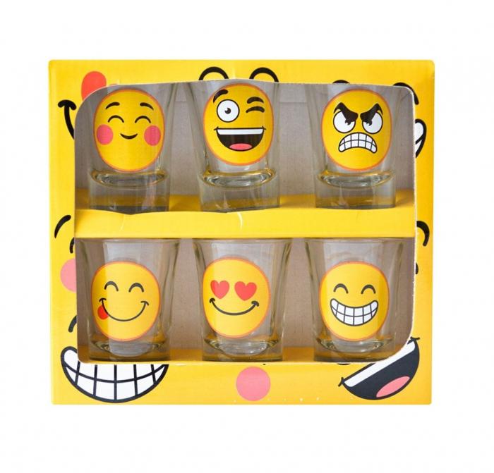 Set 6 pahare pentru shot-uri Emoji 1