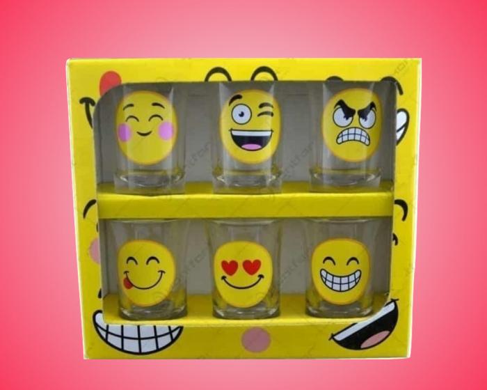 Set 6 pahare pentru shot-uri Emoji 0
