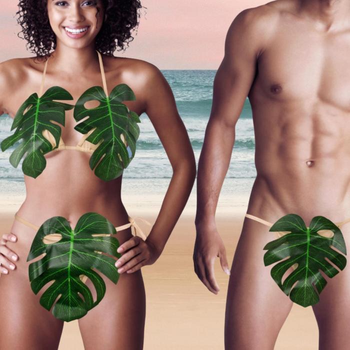 Set costum de baie pentru Adam si Eva