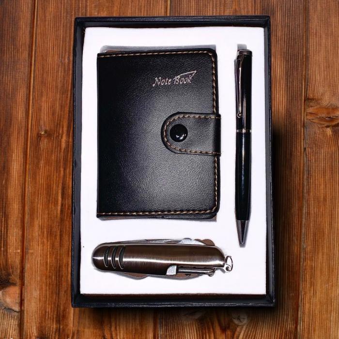 Set cadou barbati Notebook Briceag Pix