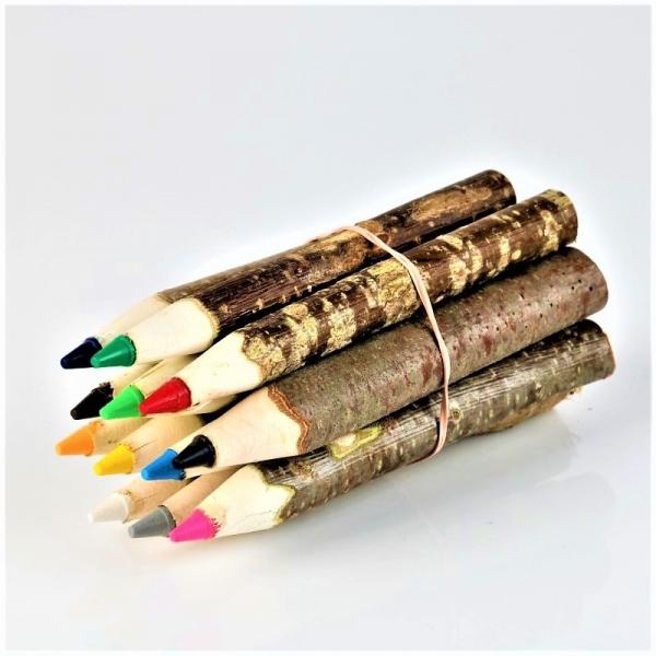 Set creioane colorate din lemn 0