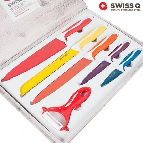 Set de 6 cutite ceramice SWISS Q 5