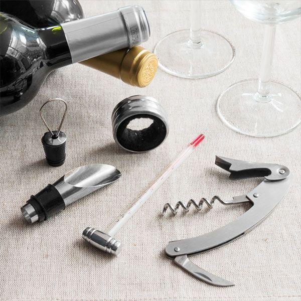 Set de accesorii pentru vin Bravissima 4piese 0