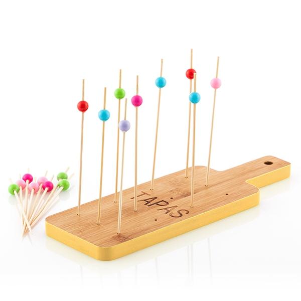 Set platou de bambus pentru aperitive Tapas 2
