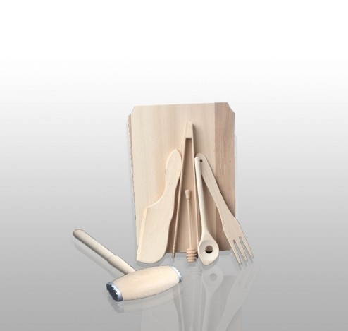 Set de bucatarie din lemn 7 piese 0