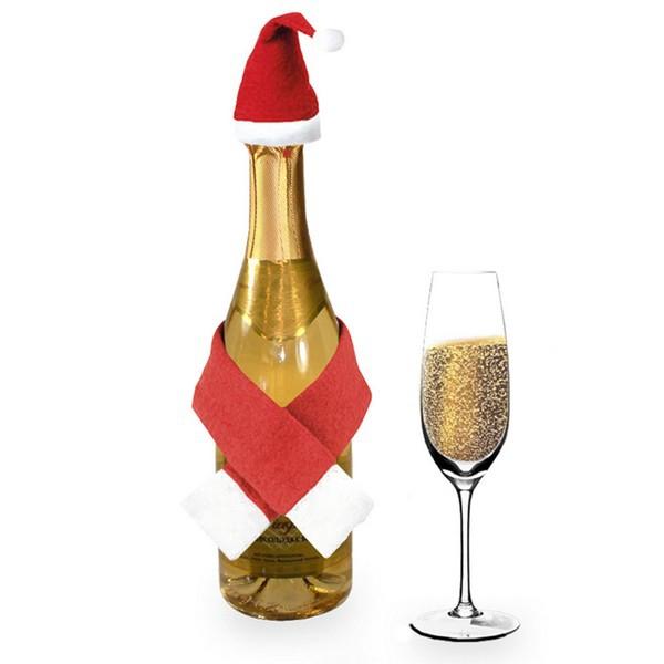 Ornament de Mos Craciun pentru sticla de vin 0