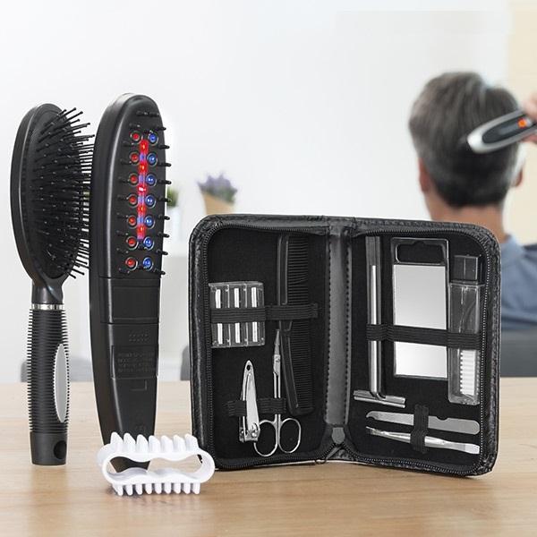 Set perie electrică împotriva căderii părului cu accesorii [0]