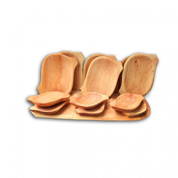 Set platou din lemn 13 piese 0