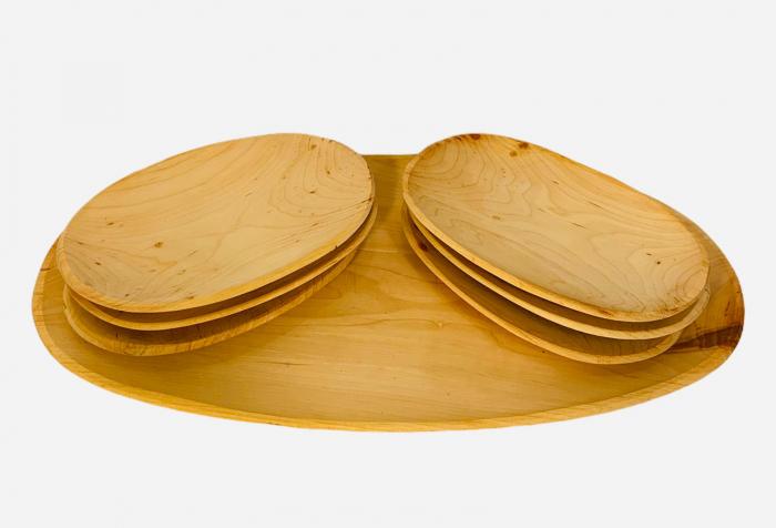 Set platou lemn 6+1 [1]