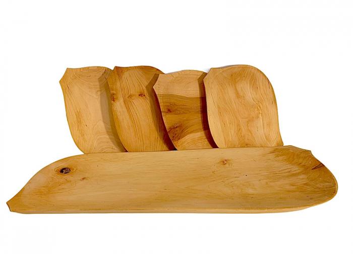 Set platou din lemn 5 piese 0