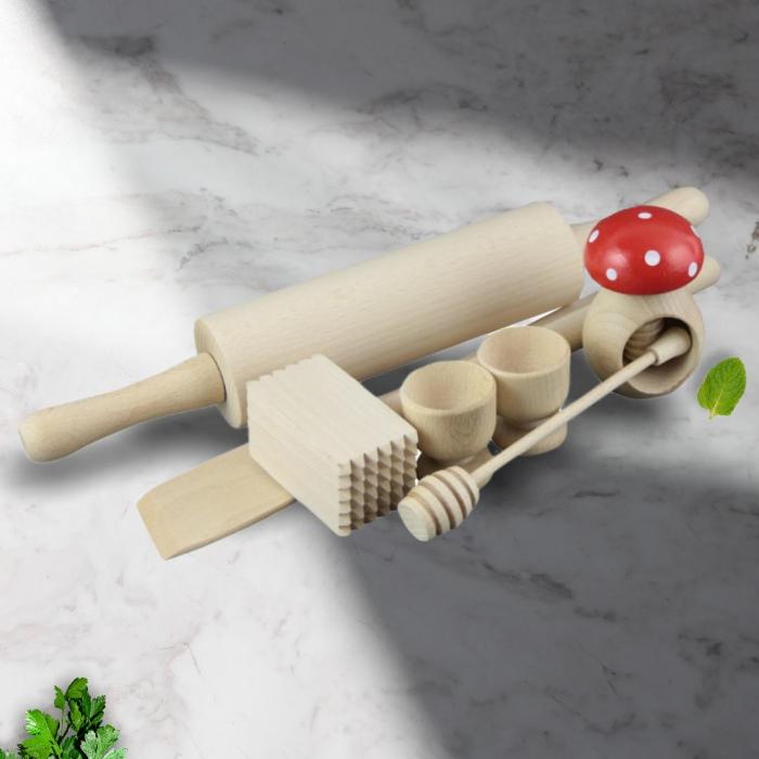 Set ustensile din lemn pentru bucatarie 0